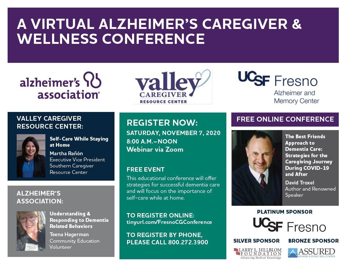 A Virtual Alzheimer's Caregiver & Wellness Conference